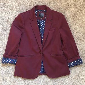 The Limited burgundy knit blazer S